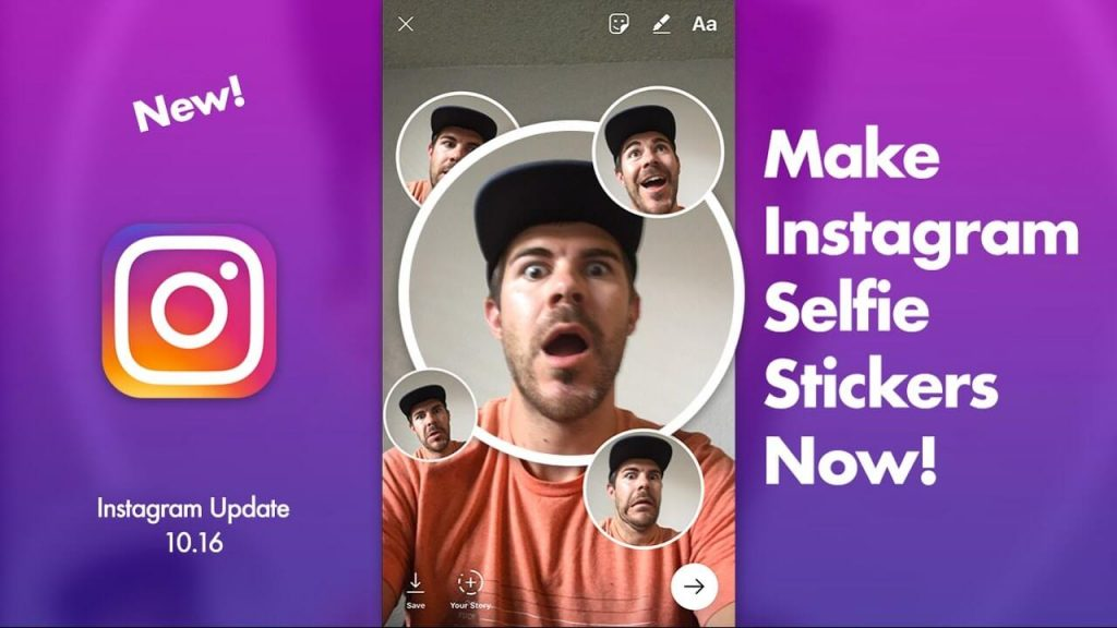 Use Your Selfie As A Sticker