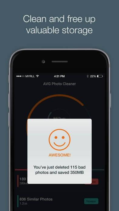 AVG photo cleaner and manager