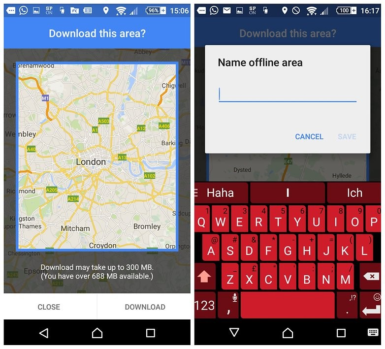 Access Google Maps Offline