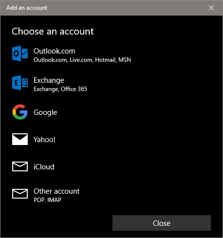 Add microsoft account