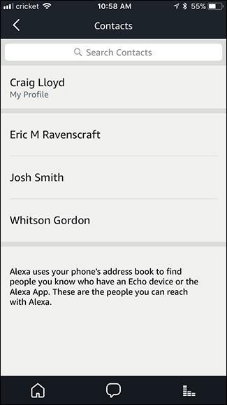 Alexa contacts