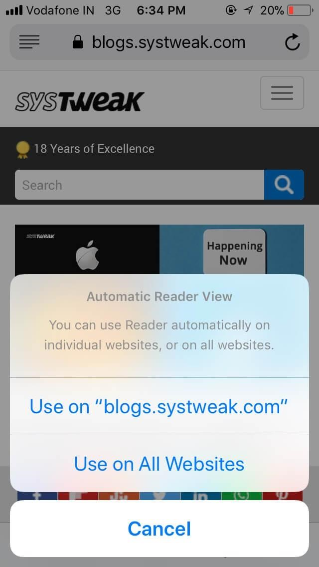 Automatic Reader View