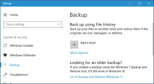 Backup Windows Regularly