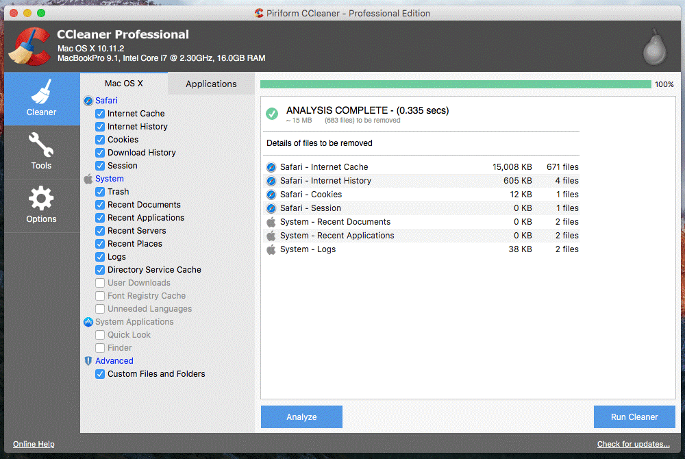 Ccleaner- great registry optimizer