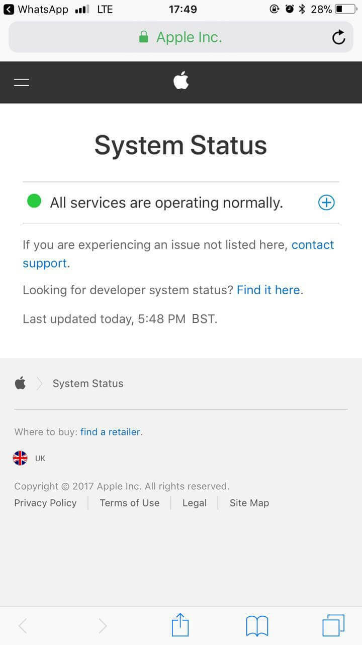 Check iMessage System Status
