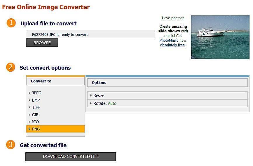 CoolUtils Online Image Converter