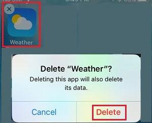 Delete weather app iPhone