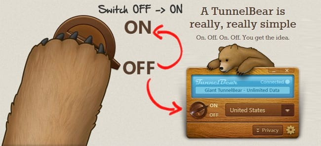 Enable tunnelbear