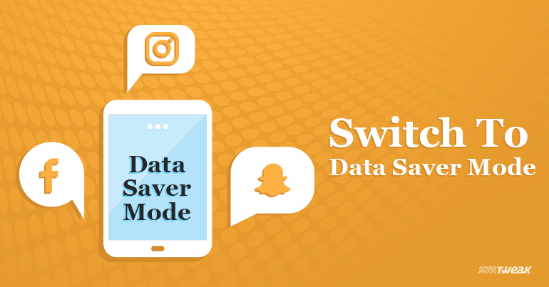 Enabling Data Saver Mode on Facebook Instagram & Snapchat