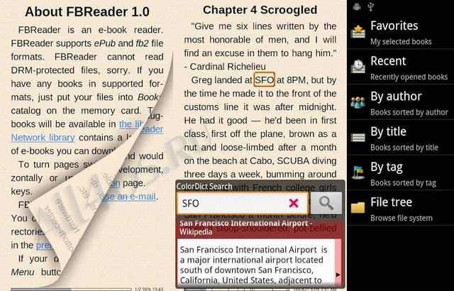 android pdf reader change reading direction