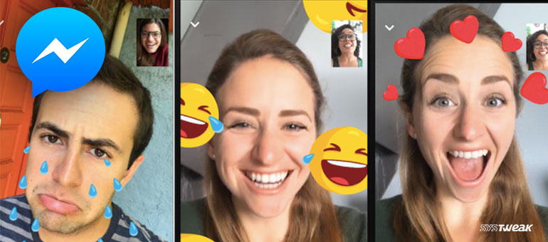 Facebook Messenger Video Calling adds a bunch of Add-ons and Goofy Filters