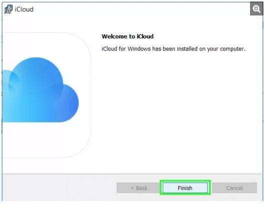 Finish iCloud installation