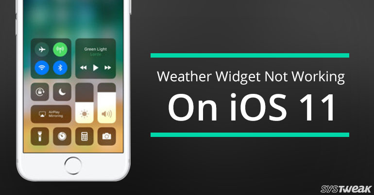 Weather widget not updating iphone
