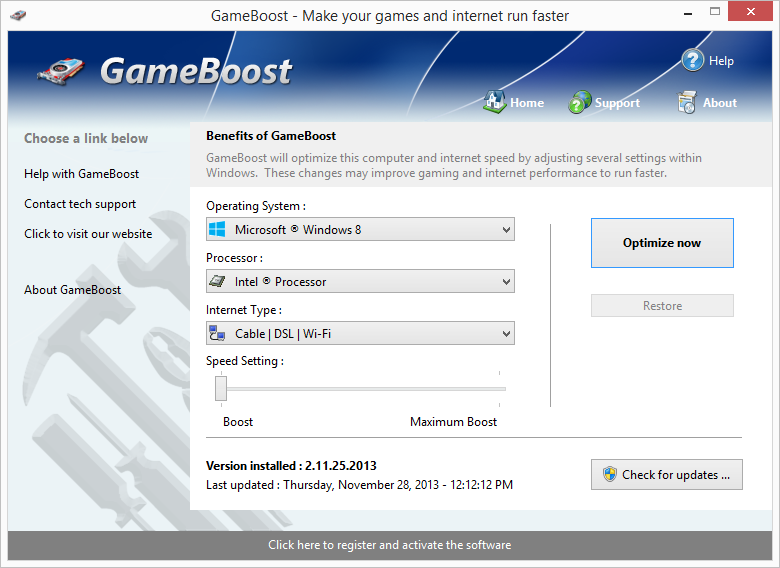 GameBoost for windows PC