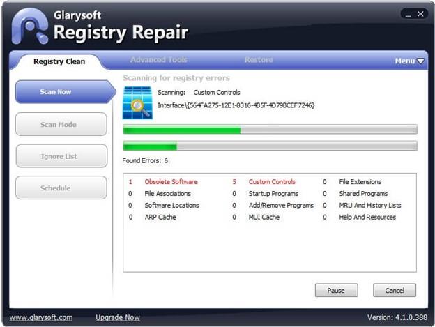 Glarysoft Registry Repair