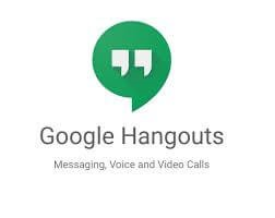 Google Hangouts- video calling app