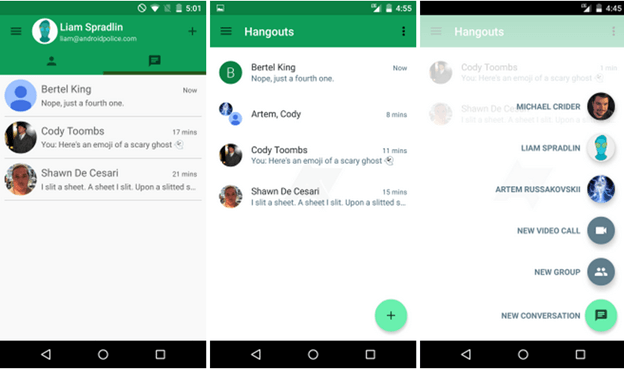 New Google Hangouts Rooms