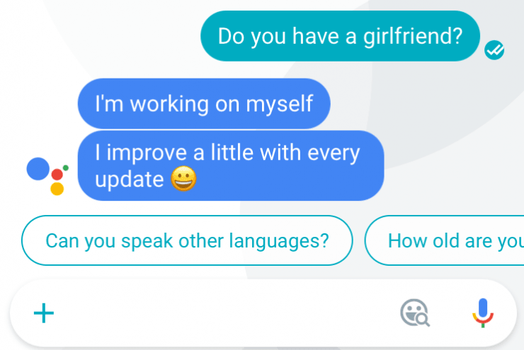 Google assistant Do you have a girlfriend-min