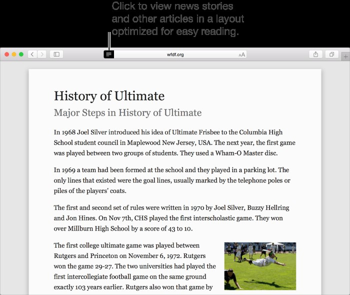 History of ultimate