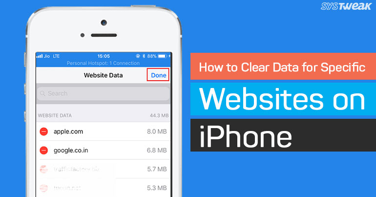 How To Clear Data For Specific Websites On iPhone