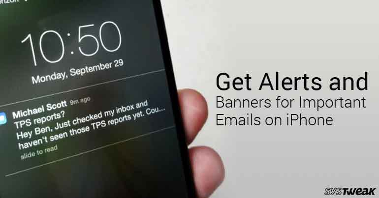 How To Get Alerts And Banners For Important Emails On iPhone