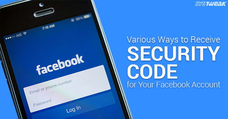 How To Receive Security Code For Facebook Account?