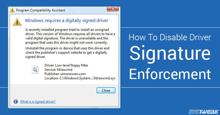 How to Disable Driver Signature Enforcement