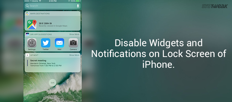 How to Disable Widgets and Notifications on Lock Screen of iPhone
