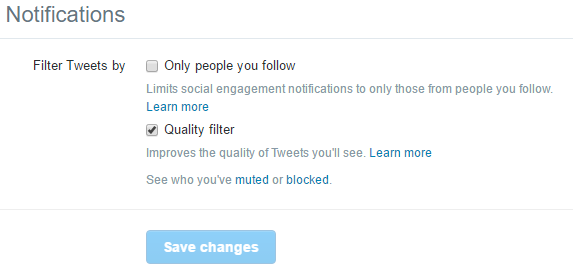 How to Enable or Disable Quality Filter on Twitter