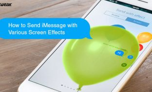 How to Send iMessage with Various Screen Effects
