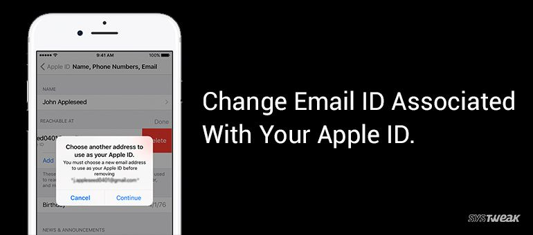 How to Change Email ID Associated With Apple ID