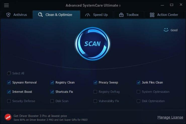 IObit Advanced SystemCare- PC opitmization tool