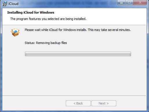 Installing iCloud for windows