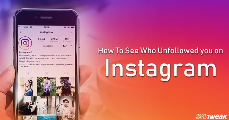 Keep Track of Who Unfollowed You on Instagram