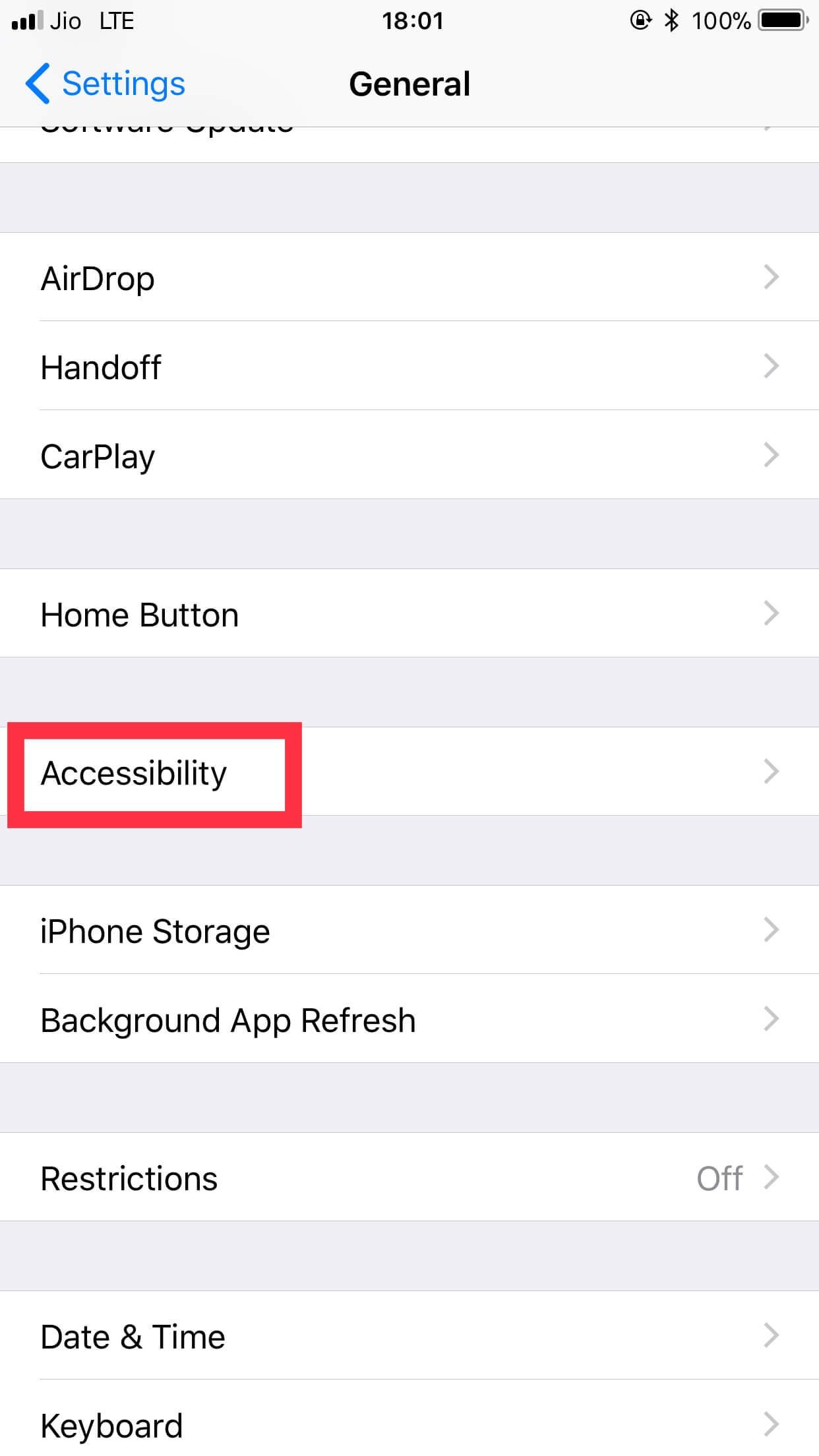 Locate Accessibility