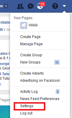 Logout using Facebook Desktop version