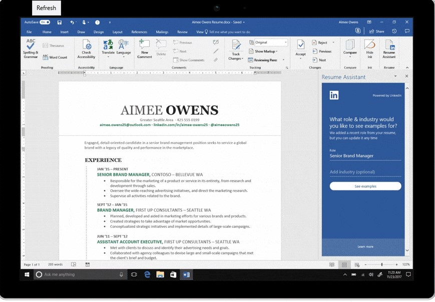 MS Word Resume Assistant