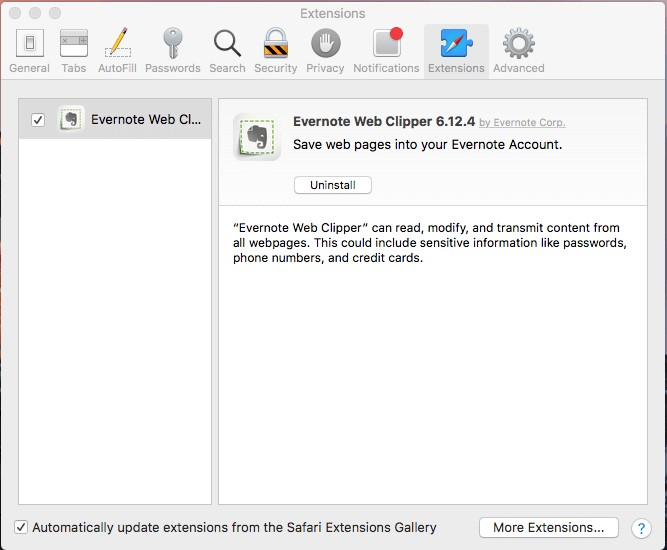 Mac evernote