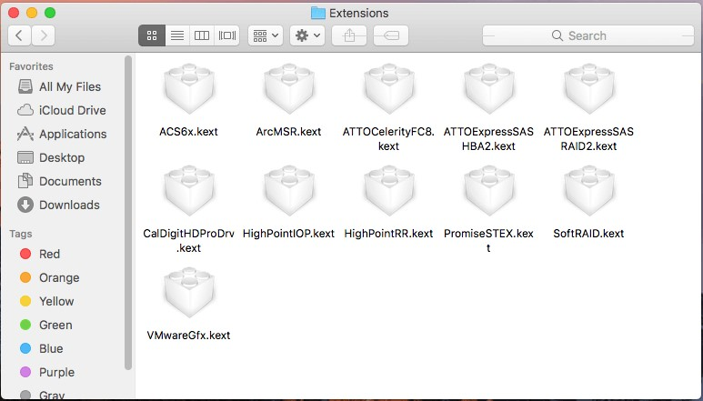 Mac extensions files