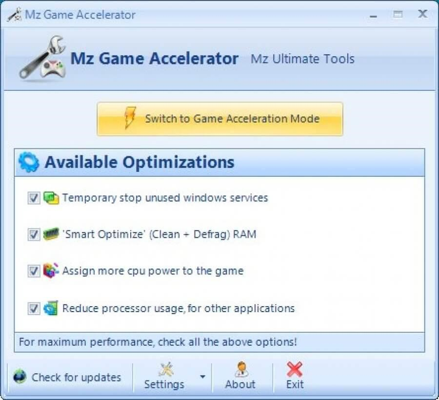 Mz Game Accelerator Best Game optimizer