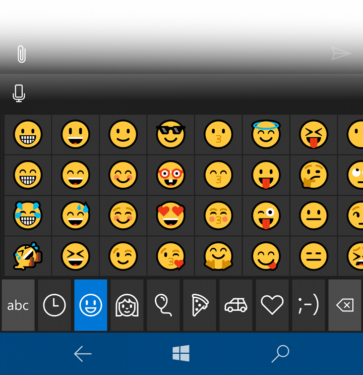 New Emojis in Windows 10 Update 2016