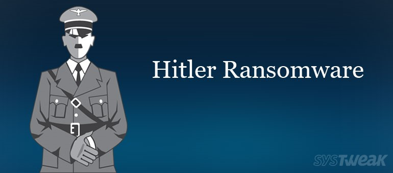 Protect Your Files Before They are Deleted by Hitler Ransomware!