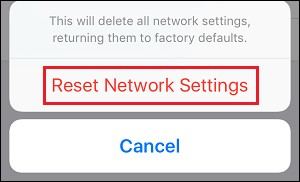Reset network settings