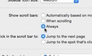 Restoring scrollbars
