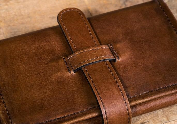 Roll Up Leather Case
