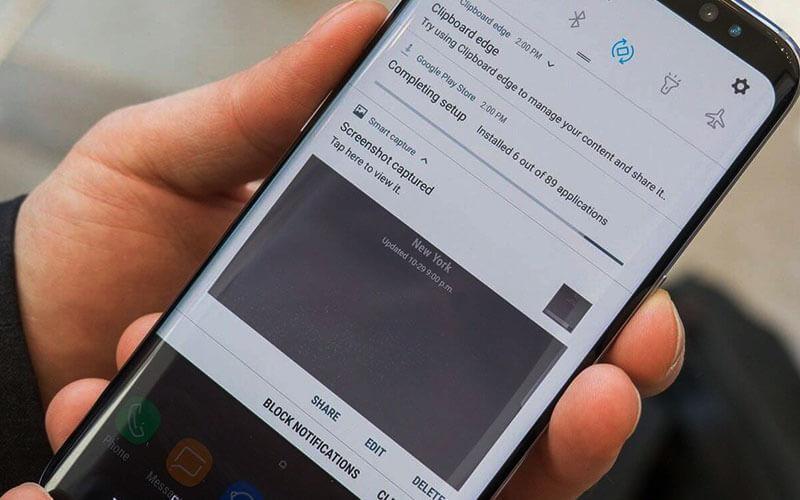 Samsung S8 screenshot
