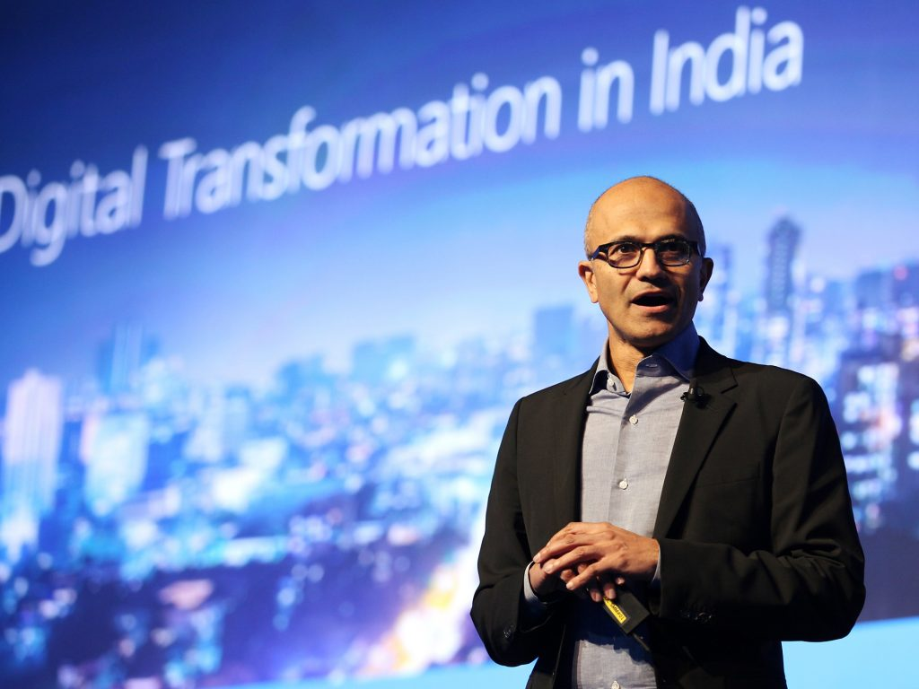 satya nadella ceo microsoft-at-skype-lite-launch