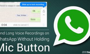 How to Send Long Voice Recordings On WhatsApp Without Holding Mic Button