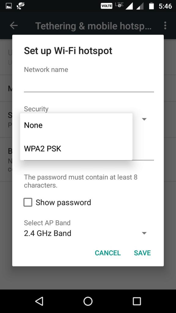Set up wifi network