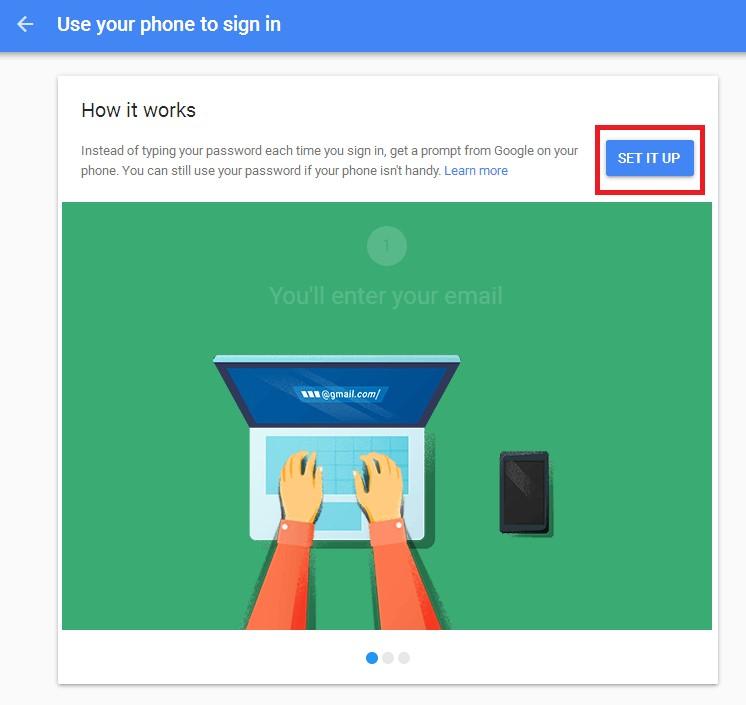 Setup gmail